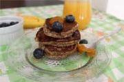 Zdrave palačinke s bananom i sjemenkama lana za doručak