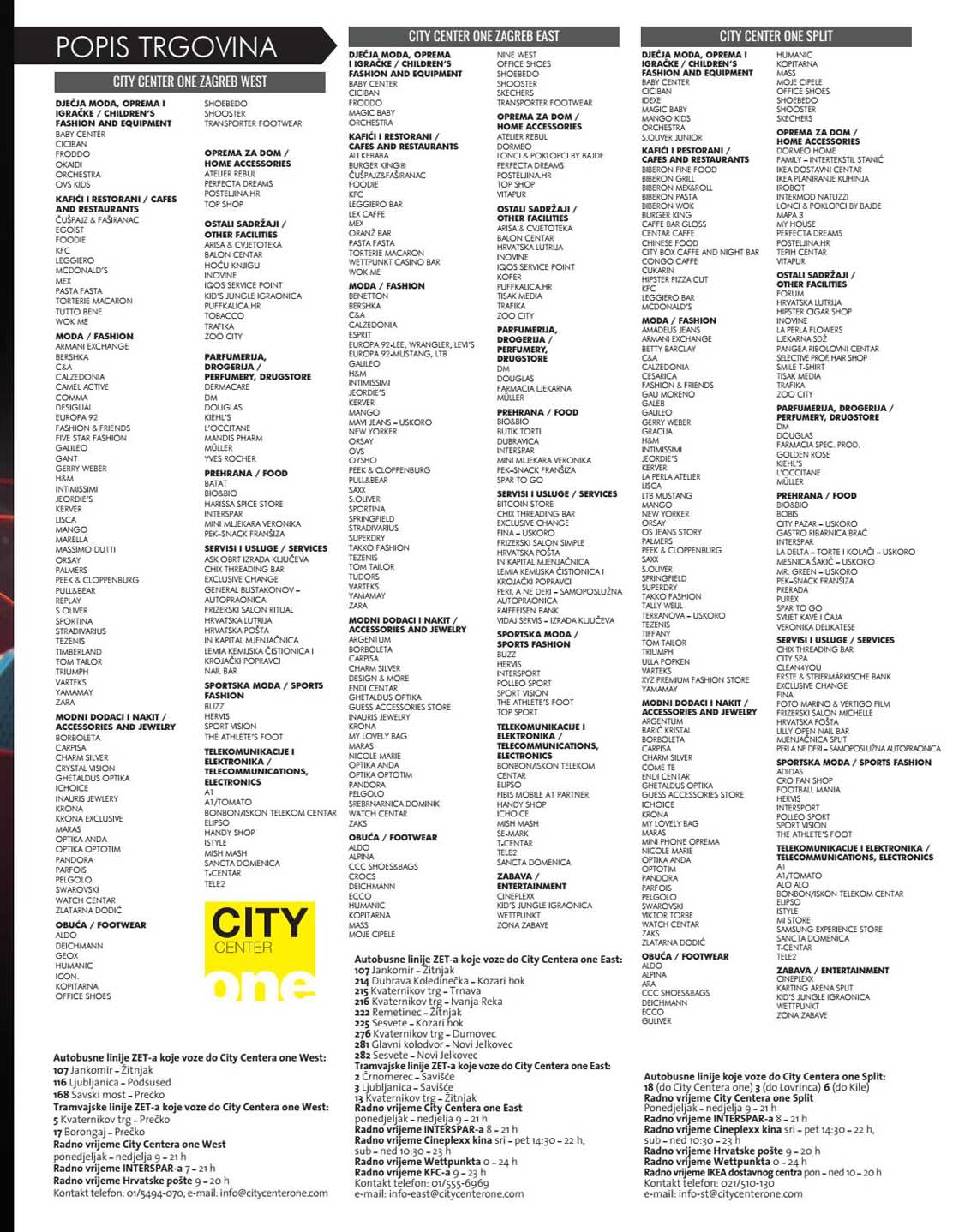 CITY ONE MAGAZIN SPECIAL EDITION