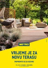 METRO AKCIJA - VRIJEME JE ZA NOVU TERASU! Akcija do 31.03.2021.