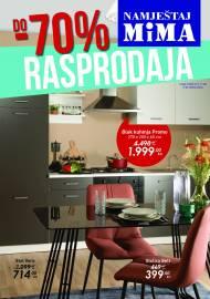 MIMA NAMJEŠTAJ KATALOG  - RASPRODAJA - Super akcija sniženja do 11.08.2021.