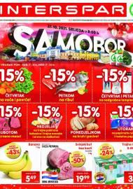 INTERSPAR KATALOG - SAMOBOR - Ponuda prehrambenih namirnica, kozmetike, sredstava za čišćenje vrijedi do 02.11.2020. Ponuda kućanstva, tekstila, tehnike vrijedi do 09.11.2021