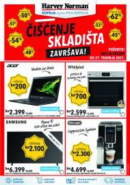 HARVEY NORMAN - ČIŠĆENJE SKLADIŠTA ZAVRŠAVA - Akcija sniženja do 27.04.2021.