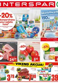 INTERSPAR KATALOG - Ponuda prehrambenih namirnica, kozmetike, sredstava za čišćenje vrijedi do 09.03.2020. Ponuda kućanstva, tekstila, tehnike vrijedi do 16.03.2021