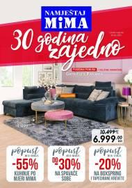 MIMA NAMJEŠTAJ KATALOG - 30 GODINA ZAJEDNO!  - Super akcija sniženja do 30.04.2021.