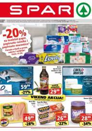 SPAR KATALOG - Ponuda prehrambenih namirnica, kozmetike, sredstava za čišćenje vrijedi do 23.02.2021. Ponuda kućanstva, tekstila, tehnike vrijedi do 02.03.2021