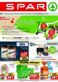SPAR KATALOG - Ponuda prehrambenih namirnica, kozmetike, sredstava za čišćenje vrijedi do 20.04.2020. Ponuda kućanstva, tekstila, tehnike vrijedi do 27.04.2021