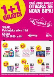 BIPA LETAK -NOVA BIPA  - SISAK - Petrinjska ulica 11A - Akcija do 27.09.2020.