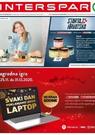 INTERSPAR KATALOG - Ponuda prehrambenih namirnica, kozmetike, sredstava za čišćenje vrijedi do 01.12.2020. Ponuda kućanstva, tekstila, tehnike vrijedi do 02.12.2020