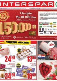 INTERSPAR KATALOG - Ponuda prehrambenih namirnica, kozmetike, sredstava za čišćenje vrijedi 18.02.2020. Ponuda kućanstva, tekstila, tehnike vrijedi do 25.02.2020