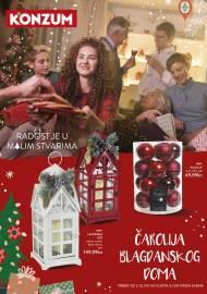 KONZUM KATALOG -ČAROLIJA BLAGDANSKOG DOMA! - Akcija do 24.12.2019.