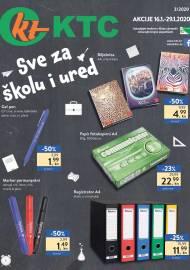 KTC KATALOG - SVE ZA ŠKOLU I URED - Akcija do 29.01.2020.