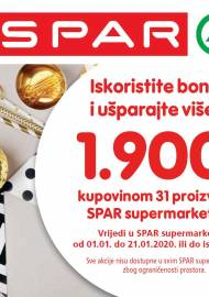 SPAR BONOVI - Akcija do 21.01.2020.