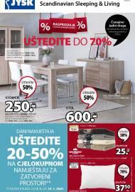 Jysk ponuda - JYSK Katalog - UŠTEDITE DO 70%  - Akcija sniženja do 20.01.2021