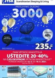 Jysk ponuda - JYSK Katalog - UŠTEDITE 40% - Akcija sniženja do 26.05.2021