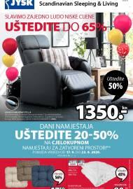 Jysk ponuda - JYSK Katalog - SLAVIMO LUDO NISKE CIJENE - Akcija sniženja do 30.09.2020