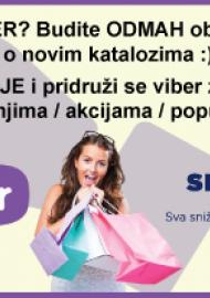 Sniženje.hr - Pratite nas na Viber-u - Sve akcije / katalozi / sniženja na jednom mjestu!!!