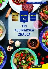 METRO AKCIJA - TRI KULINARSKA ZNALCA! Akcija do 07.07.2021.