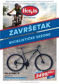 HERVIS KATALOG - ZAVRŠETAK BICIKLISTIČKE SEZONE -  Akcija vrijedi do 26.09.2021