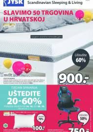 Jysk ponuda - JYSK Katalog - SLAVIMO 50 TRGOVINA U HRVATSKOJ - Akcija sniženja do 27.10.2021
