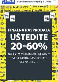 Jysk ponuda - JYSK Katalog -  RASPRODAJA - UŠTEDITE DO 70% - Akcija sniženja do 11.08.2021